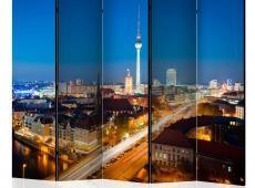 Paraván - Berlin by night II [Room Dividers]